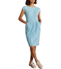 boden florrie jersey dress, size 8 in dawn blue bird tile at nordstrom