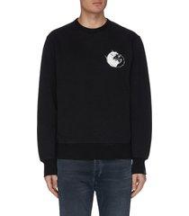 yinyang rat print sweatshirt