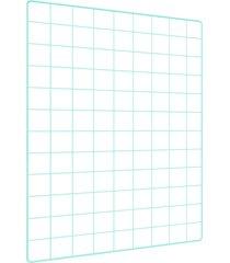 memory board quadro de fotos verde água - 65cm x 45cm 6 mini prendedores