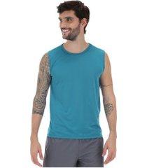 camiseta regata oxer basic light - masculina - azul/cinza cla