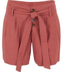 shorts con bottoni e cintura (rosso) - bpc bonprix collection