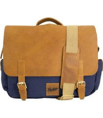 florsheim men's rodrigo canvas messenger bag