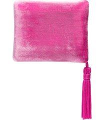 sophie bille brahe tassel-trimmed velvet case - pink