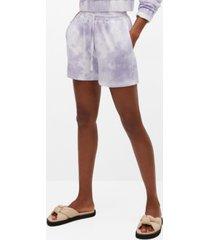 mango women's tie-dye cotton shorts