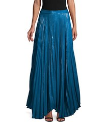 metallic-embellished pleated skirt