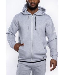 southpole men's premium power fleece full zip hoodie