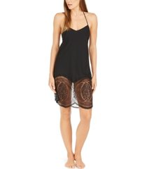 calvin klein women's medallion lace chemise nightgown