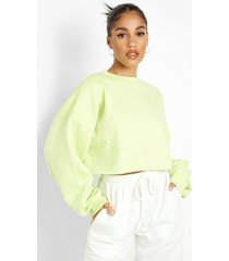 gerecyclede korte sweater, lime