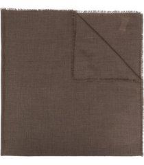 agnona cashmere scarf - brown