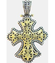 konstantino 'classics' two-tone cross pendant in silver/gold at nordstrom