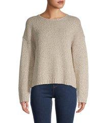 eileen fisher women's organic cotton sweater - maple oat - size m