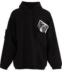 patches and pins logo hoodie