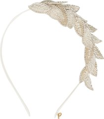 parlor leafs appliqué headband - neutrals