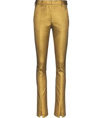 victoria beckham lurex trousers - gold