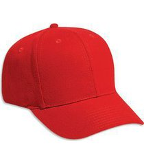 otto brushed bull denim six panel pro style baseball cap (color-red)