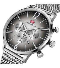 reloj análogo mf0114gs-5 hombre plata