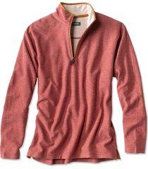 simoom tweed quarter-zip sweatshirt, weathered red, xx large