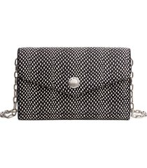 women's rag & bone atlas snake embossed leather wallet on a chain - black