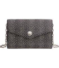 women's rag & bone atlas snake embossed leather wallet on a chain -