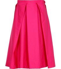 marni cotton flared skirt