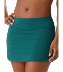 tommy bahama women's stretch mini skirt - caledon sea green - size s
