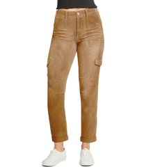 dickies factory roll cuff stretch cotton utility pants, size 15 in brown duck at nordstrom