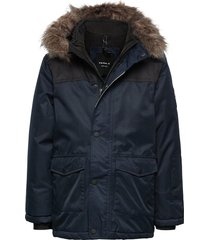 nkmsnow10 jacket 2fo parka-jas blauw name it