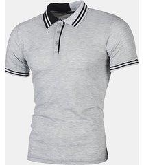 magliette da uomo casual a righe da golf golf camicia manica corta primavera estate casual in cotone