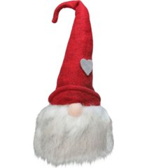 northlight gnome with bendable felt hat with heart accent christmas decoration