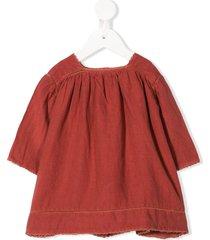 caramel wimbledon pleated dress - red