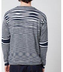 missoni men's multicolour pattern v-neck cardigan - multi - 50/l