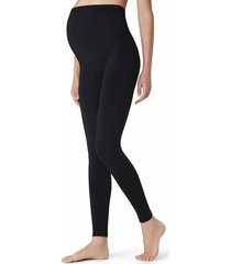 calzedonia - opaque maternity footless tights, m/l, black, women