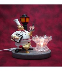 bistro/french chef oil/tart warmer compatible with scentsy and yankee candle wax