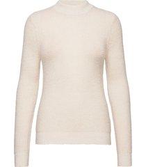 cora turtleneck pullover stickad tröja vit sparkz copenhagen