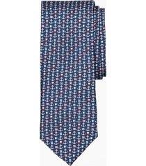 corbata nautical motif azul brooks brothers