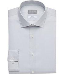 michael kors gray patterned slim fit dress shirt