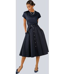 kjol alba moda marinblå