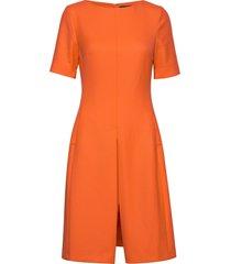 3596 - jaden sl korte jurk oranje sand