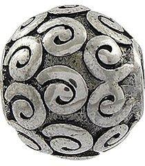 berloque narcizza semijoias com detalhes em arabescos aço