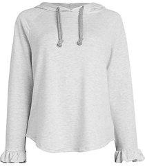 ruffle cuff hoodie