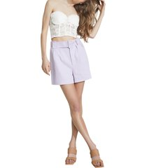 bardot the linen shorts, size large in lilac at nordstrom