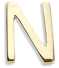 18k yellow gold letter charm - n