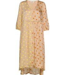 evelinagz dress m20 jurk knielengte geel gestuz