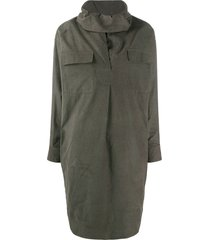 kenzo cowl neck dress - green