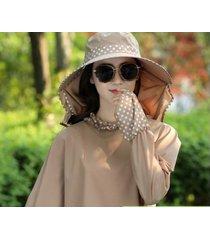nuevo sombrero para el sol exterior transpirable para mujer-café