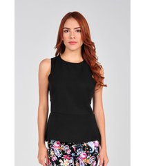 blusa sin mangas de mujer vestimenta vf174-1102-526 negro