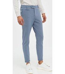 les deux como light pinstripe suit pants byxor blå