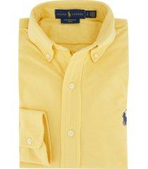 ralph lauren overhemd geel mesh button down