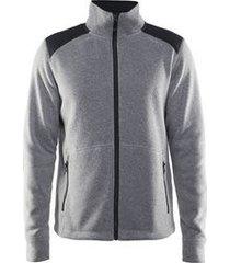 craft vest men noble zip jacket hk fleece grey melange