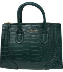 bebe trina mini croco satchel